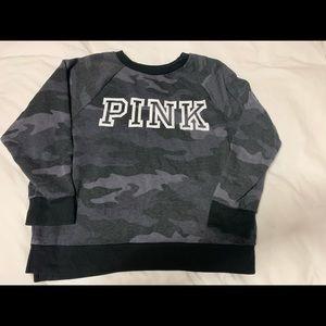 Victoria secrets pink camo crew neck sweater